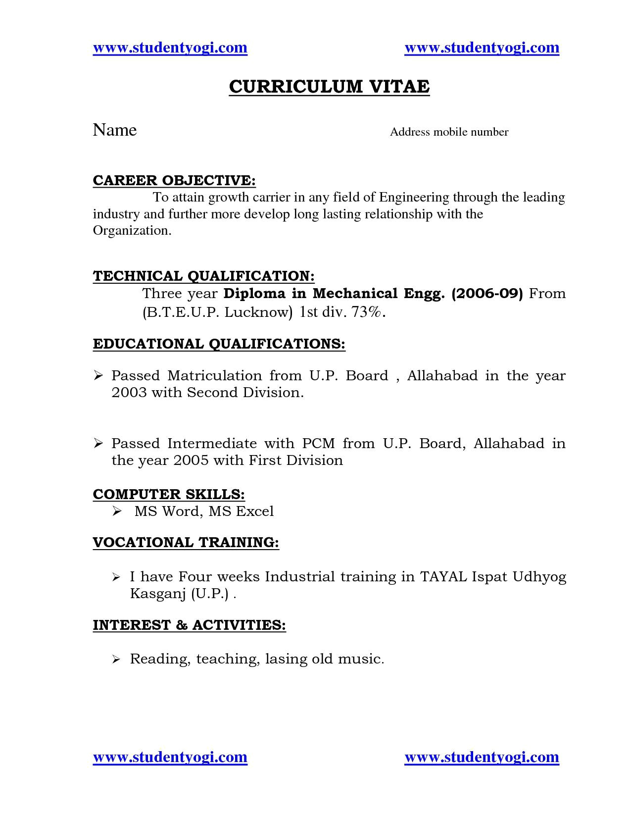 Sample Resume for Diploma Electrical Engineer Sample Resume for Diploma Electrical Engineer Elegant Best