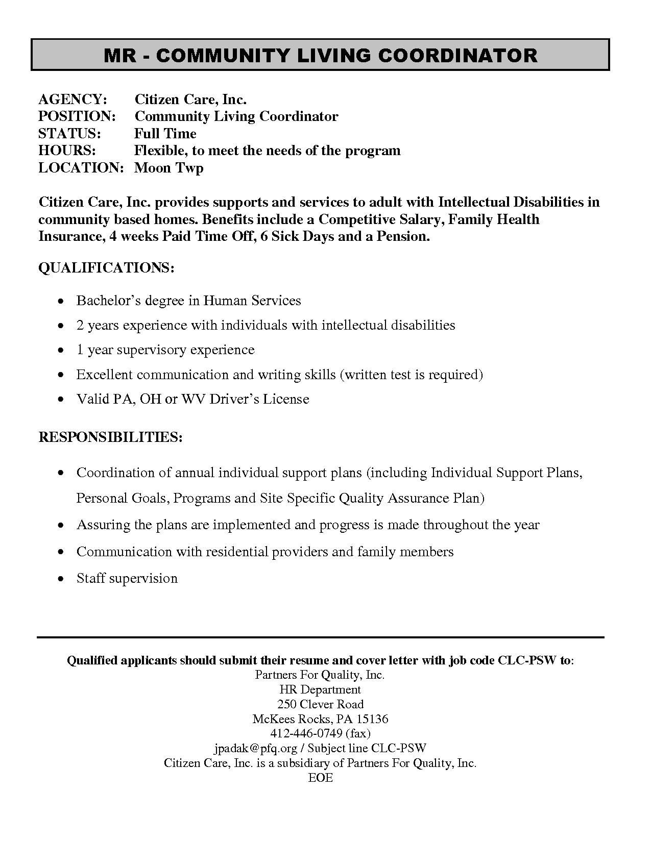 personal support worker resume example