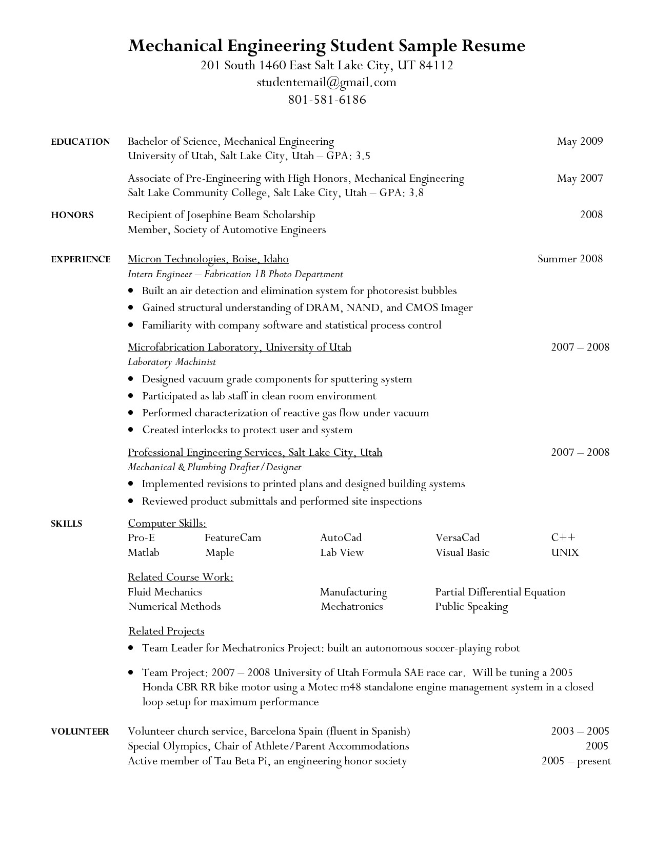 Sample Resume for Ece Engineering Students Engineering Student Resume Google Search Resumes