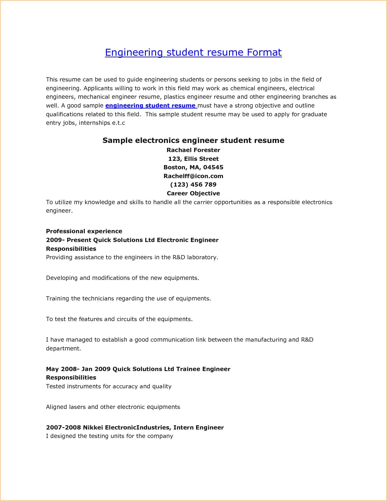 sample resume for ece engineering students fresh engineering students resumes madrat