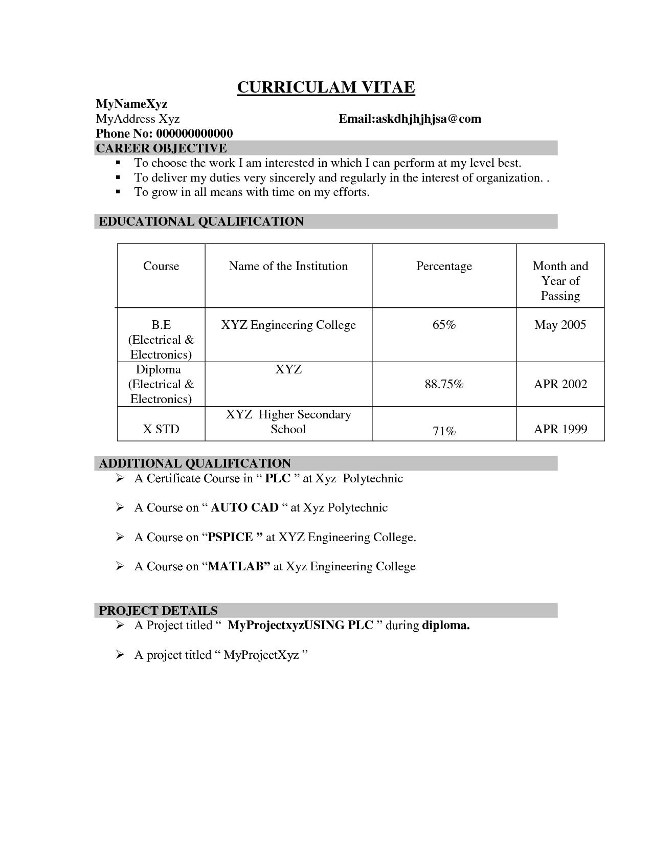 Sample Resume for Ece Engineering Students Sample Resume for Freshers It Engineers Best Of Resume for