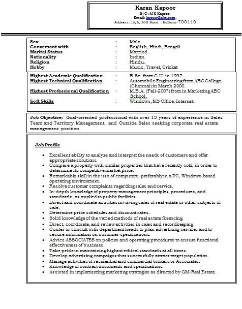 Sample Resume for Experienced Marketing Professional Resume format for Experienced Professionals Best Resume