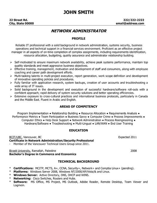 best network engineer resume templates samples