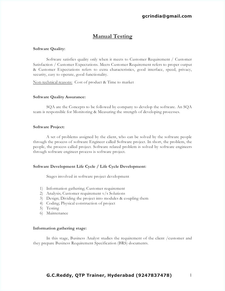 software testing resume for experienced
