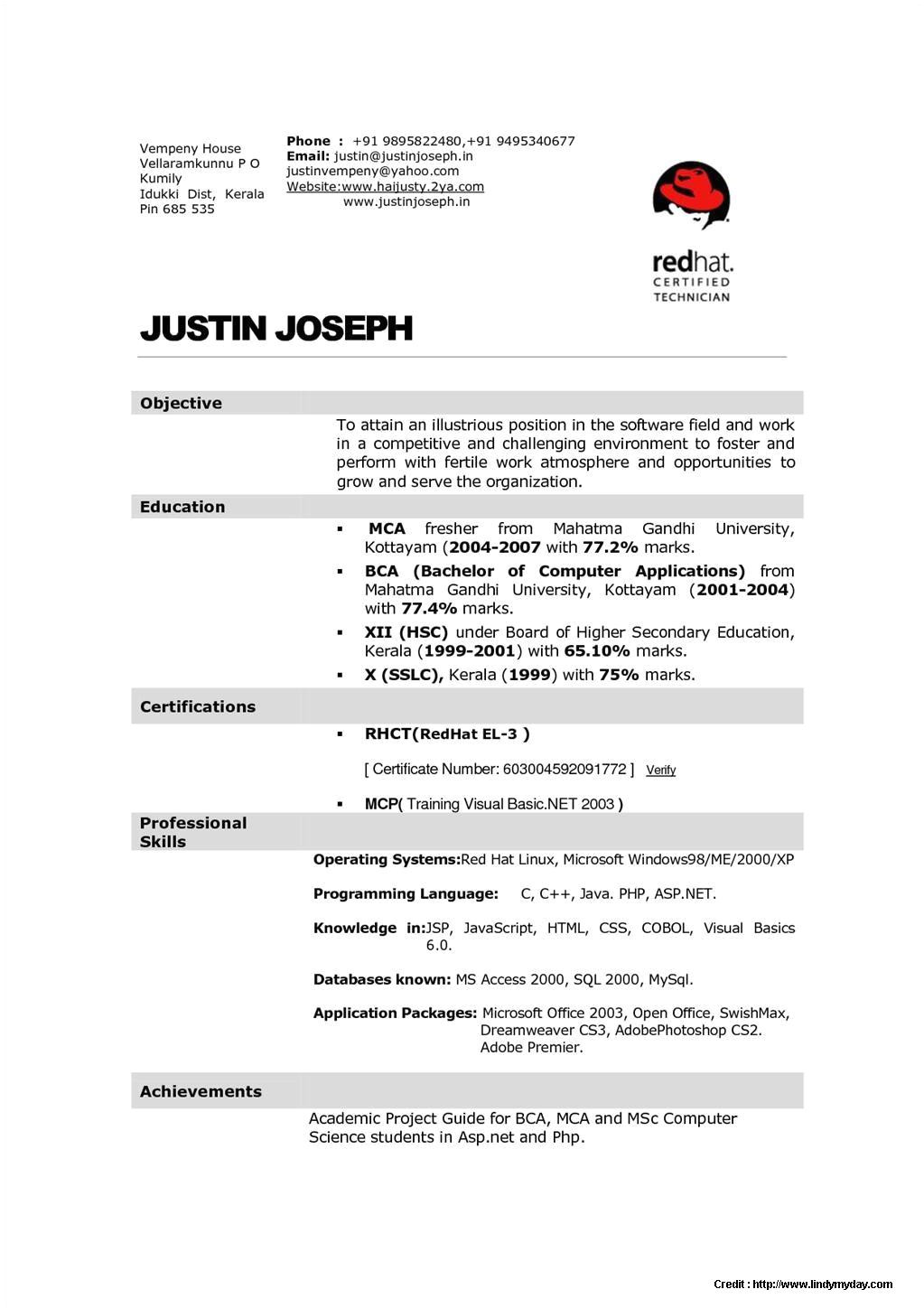Sample Resume for Hotel Management Fresher Sample Resume for Hotel Management Fresher Resume