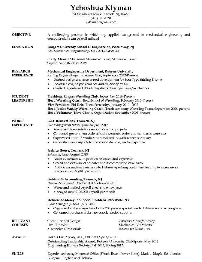 Sample Resume for Internship In Mechanical Engineering Pin by Job Resume On Job Resume Samples Pinterest