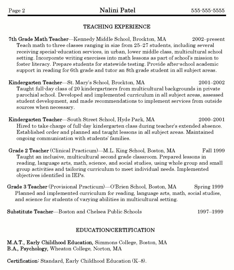 Sample Resume for Maths Teachers Math Teacher Resume Sample Best Resume Collection