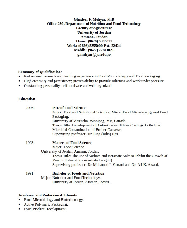 microbiologist resume