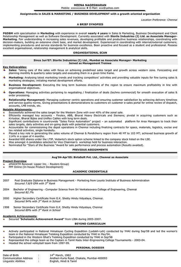 Sample Resume for Mid Level Position 10 Sales Resume Templates Free Word Pdf Psd Samples