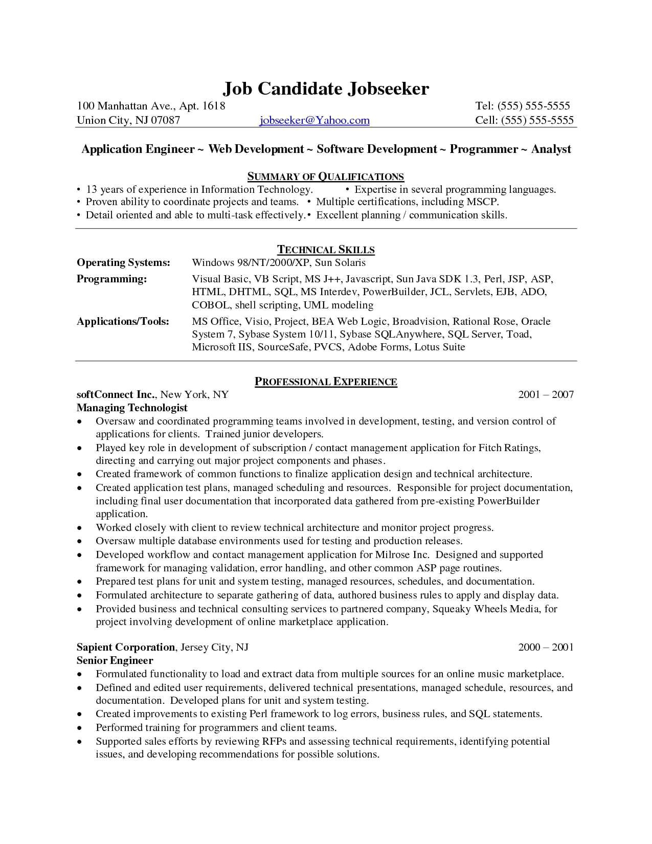 sample resume for net developer with 2 year experience new asp net resume
