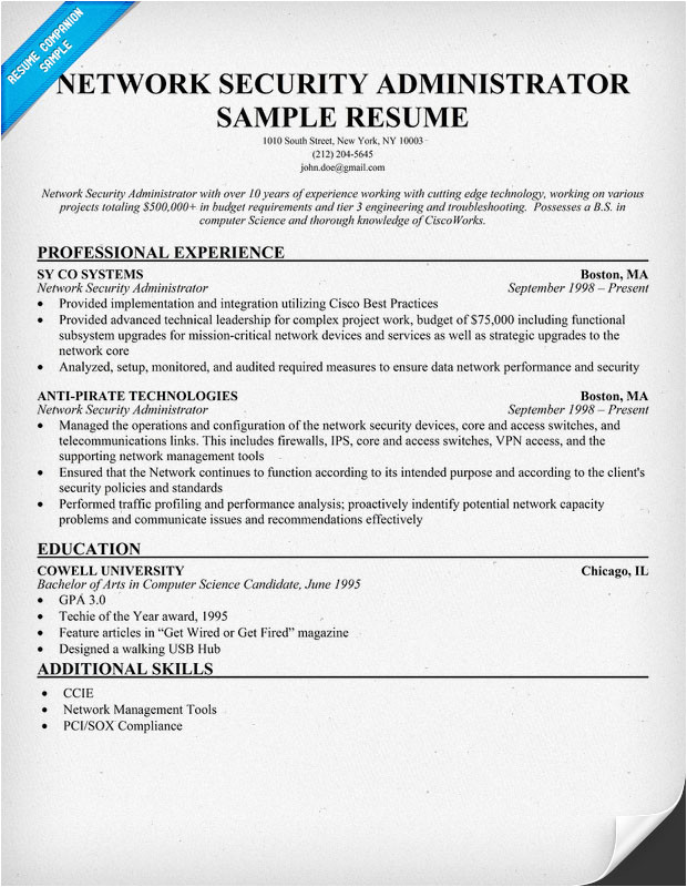 it security administrator cover letter