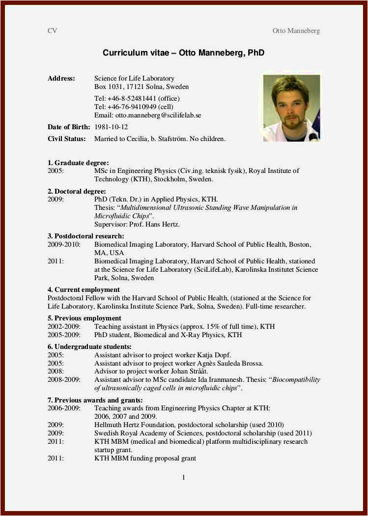 newly graduate student cv format