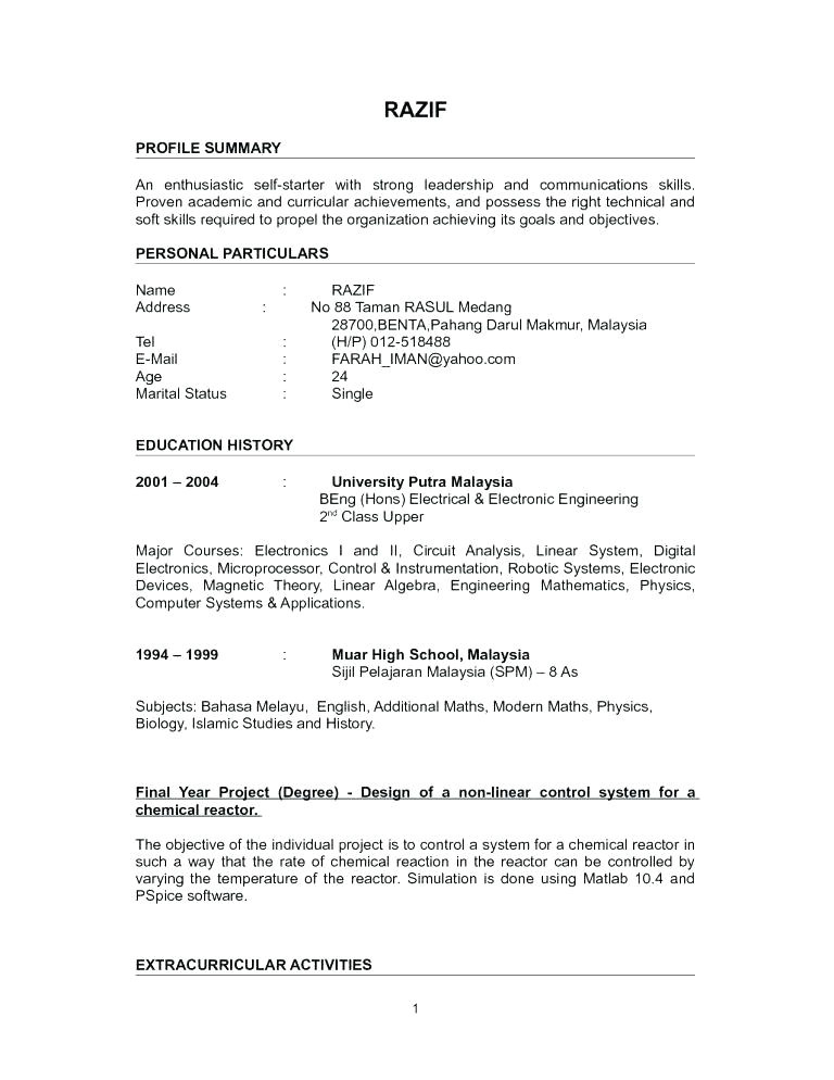 Sample Resume for Non Experienced Applicant 10 Example Of Applicant Resume for Teacher Penn Working