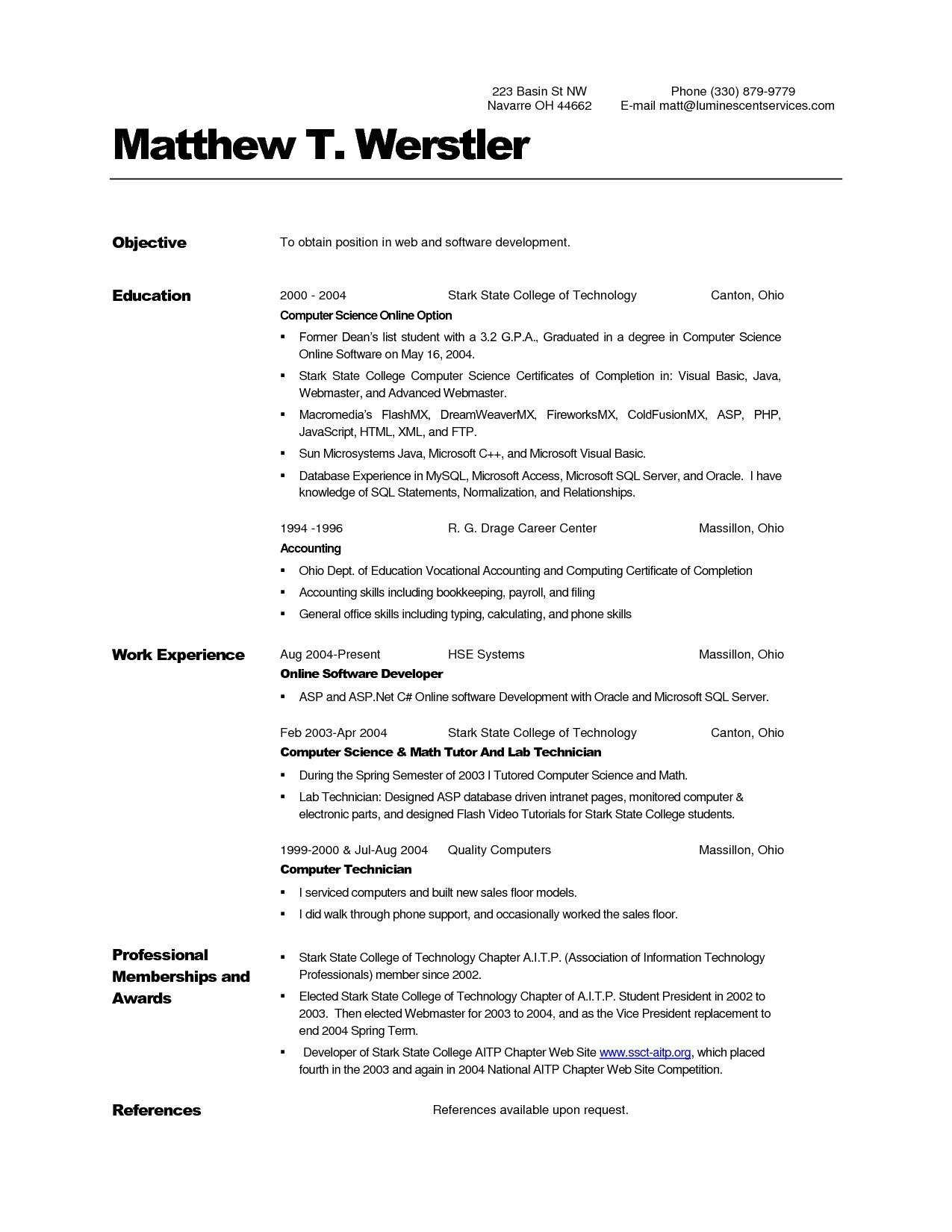 Sample Resume for Ojt Computer Science Students Sample Resume for Ojt Computer Science Students Lovely