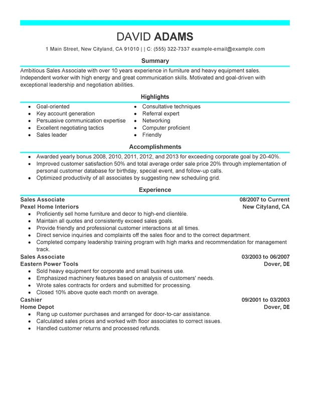 Sample Resume for Sales associate and Customer Service Unforgettable Sales associate Resume Examples to Stand Out