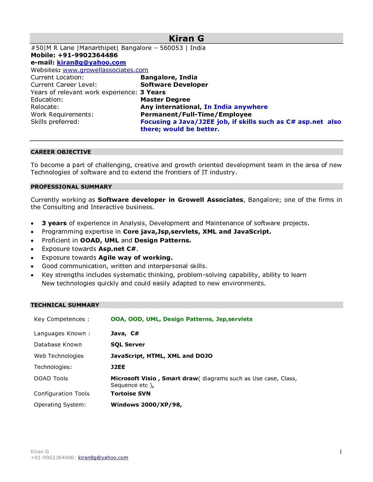 sample resume for sap abap 1 year of experience new fresh sap programmer sample resume resume sample