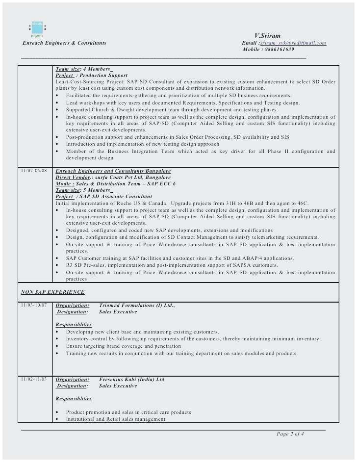 sample resume for sap abap 1 year of experience perfect sap abap resume 4 years experience image collections free resume