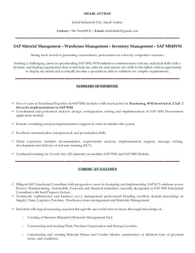 Sample Resume for Sap Sd Consultant Sap Sd Sample Resume Consultant Functional Resumes India