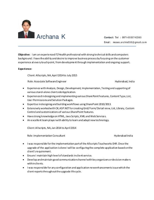 Sample Resume for Sharepoint Developer Sharepoint Developer Resume