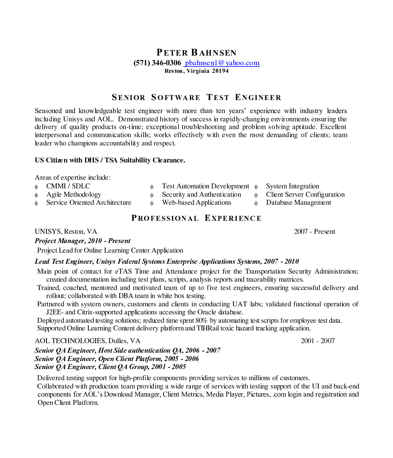 lead test engineer sample resume 7 flight test engineer sample