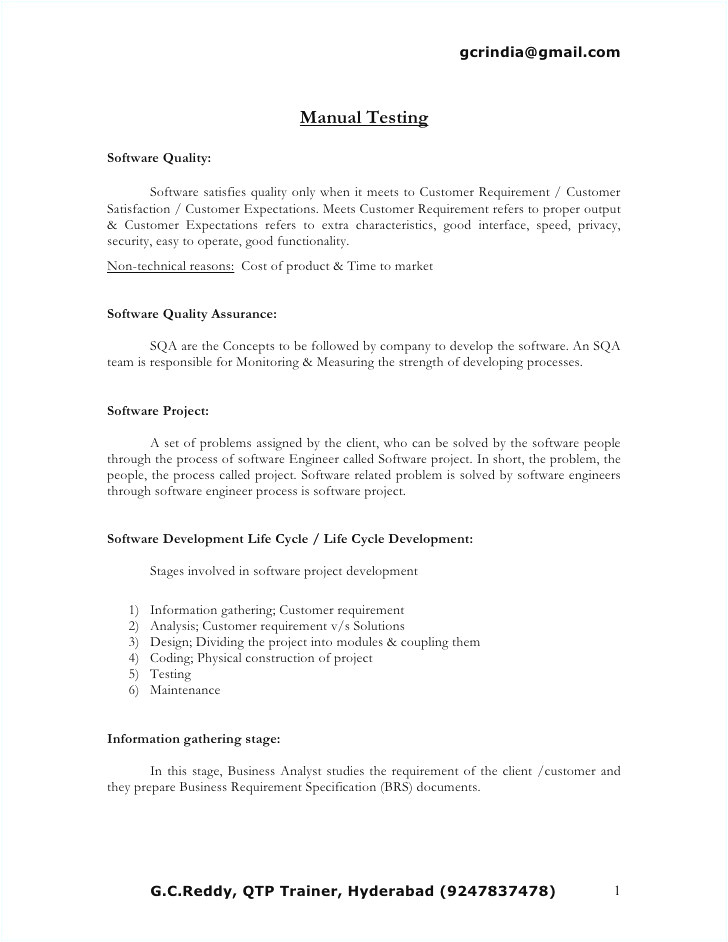 Sample Resume for software Tester 2 Years Experience Sample Resume for 2 Years Experience In Manual Testing