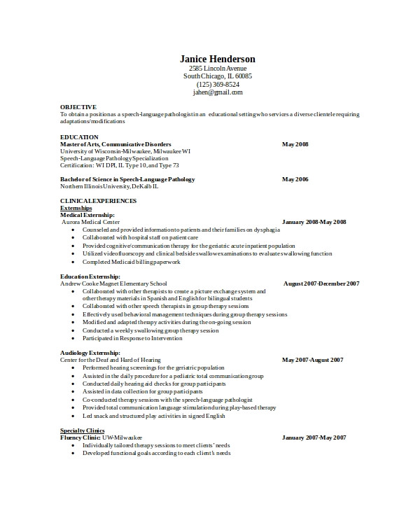 pathologist resume
