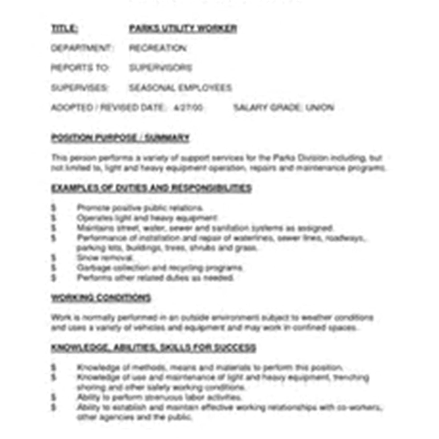Sample Resume for Utility Worker Awesome Energy Utility Resume Mold Simple Resume