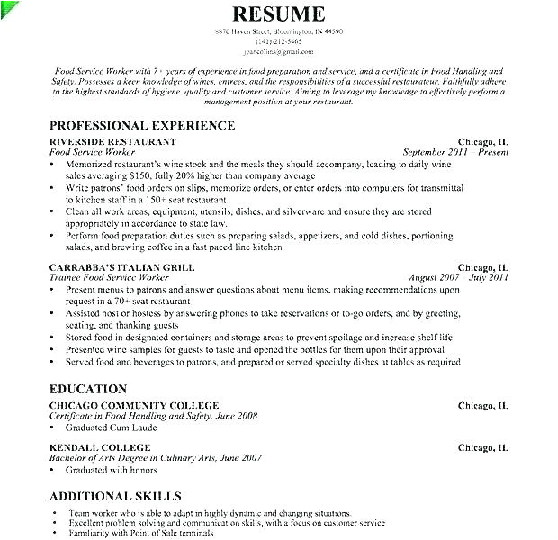 utility worker resume