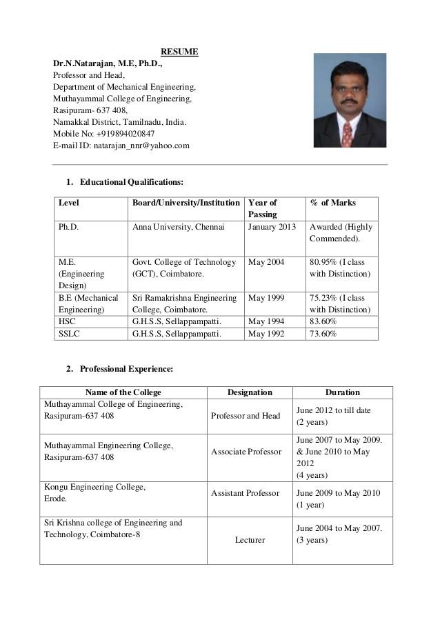resume drnnatarajan 14032014