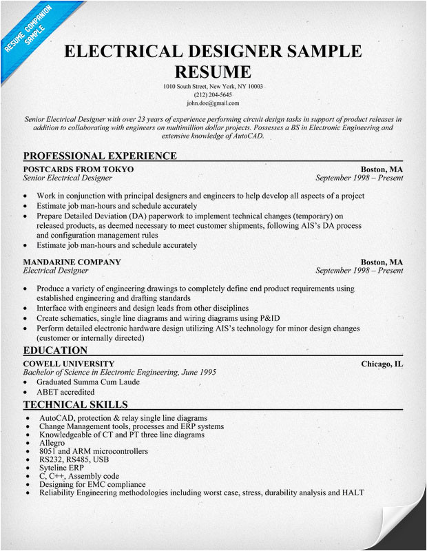 electrical engineer resume