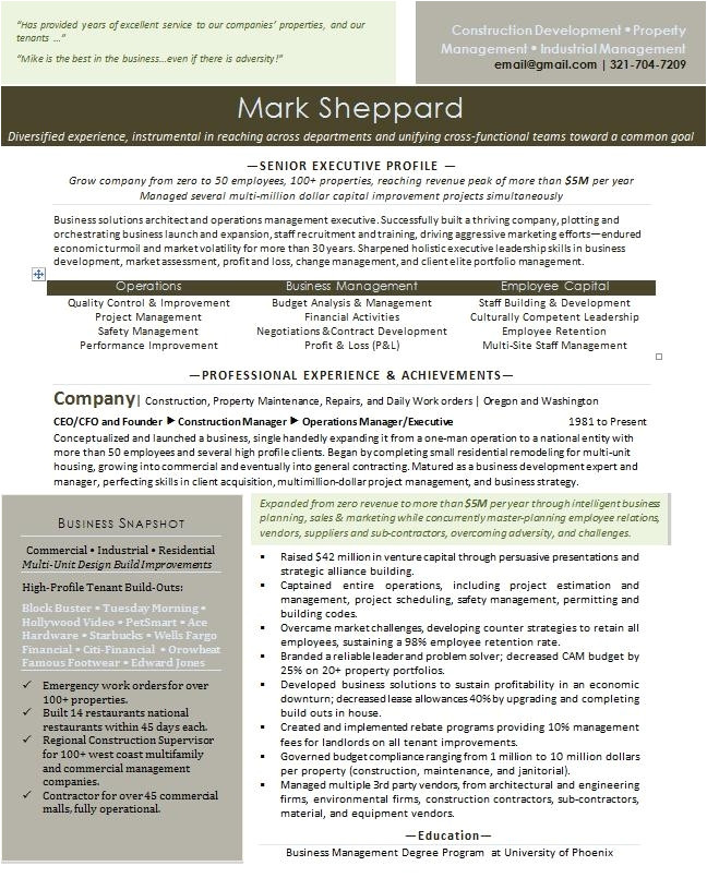 entrepreneur resume sample