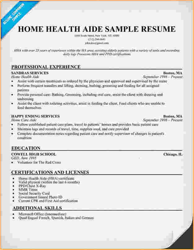 Sample Resume Of Health Care Aide 10 Health Care Aide Resume Cover Letter Invoice