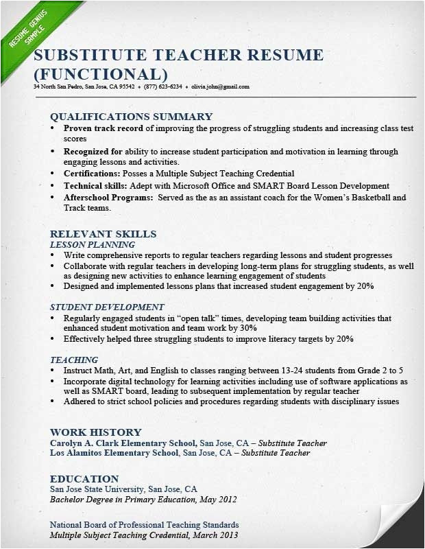 Sample Resume Of Teacher Applicant Sample Resume for Teacher Applicant Best Resume Collection