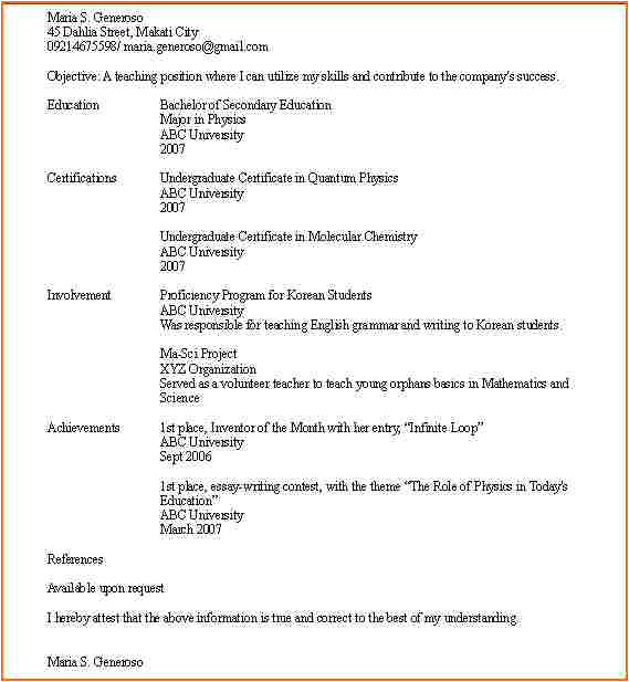 Sample Resume with One Job Experience 8 Sample College Student Resume No Work Experience