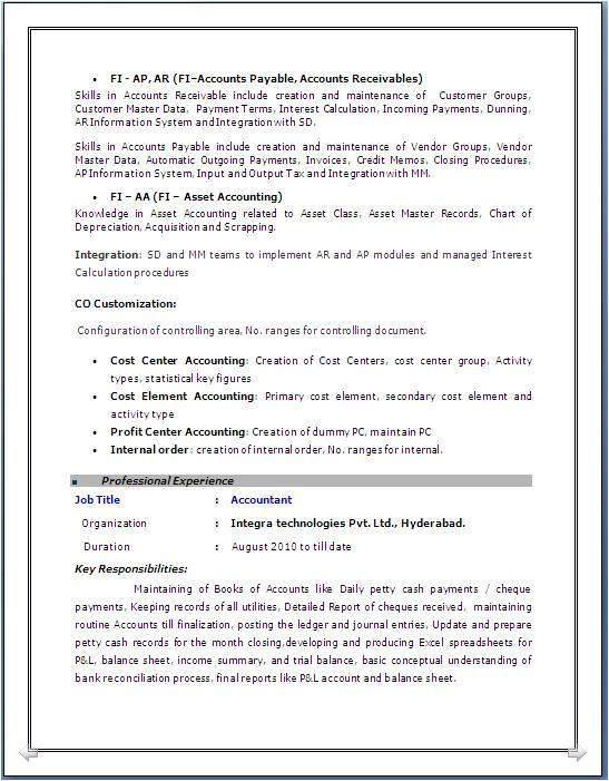 sample resume software engineer 2 years experience