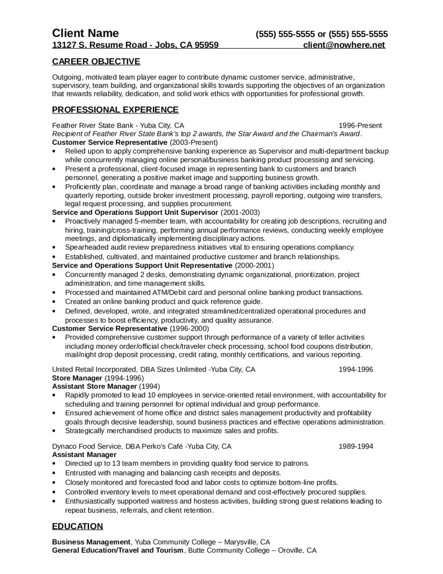 Sample Resumes for Customer Service Positions 2018 Customer Service Resume Fillable Printable Pdf