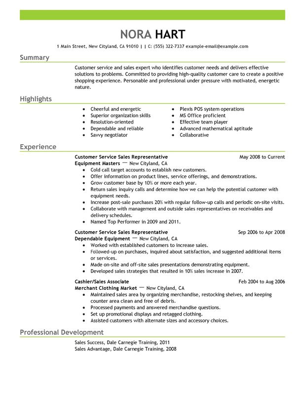 Sample Resumes for Customer Service Positions Unforgettable Customer Service Representatives Resume