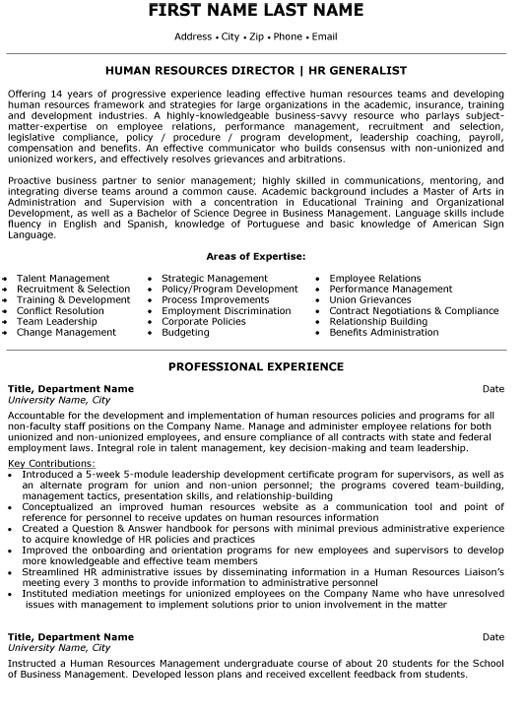 Sample Resumes for Hr Professionals top Human Resources Resume Templates Samples