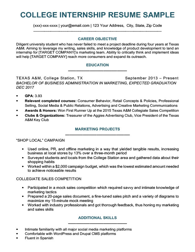 Sample Resumes for University Students College Student Resume Sample Writing Tips Resume