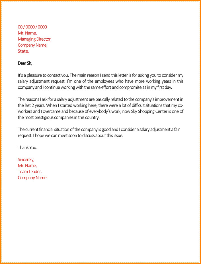 pay raise letter template