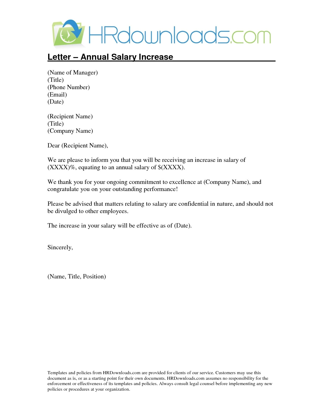 salary review letter template