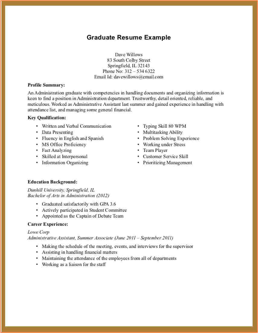 Sample Student Resume with No Working Experience 8 Sample College Student Resume No Work Experience