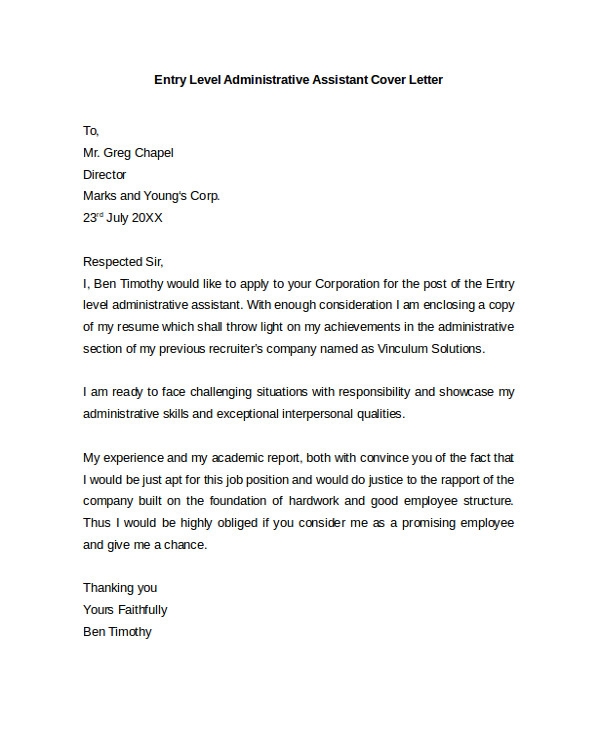 cover letter example template