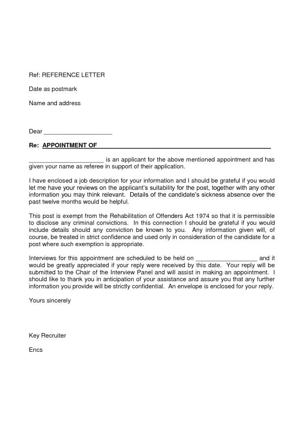 sample cover letter for job application
