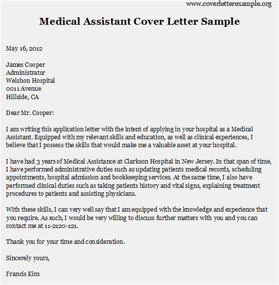 top medical assistant cover letter samples
