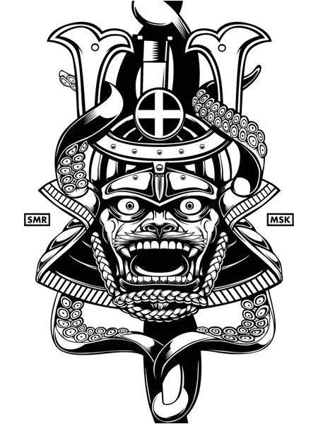 Samurai Helmet Template Samurai Mask Coloring Pages