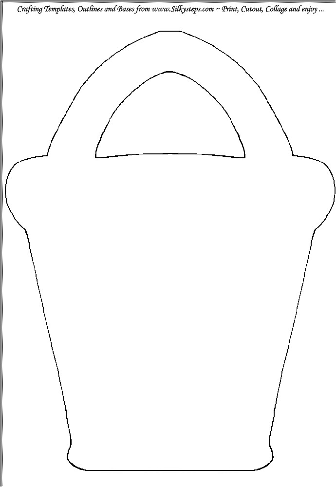 Sand Bucket Template Bucket Beach Sand Outline Template Gif 690 1 000 Pixels