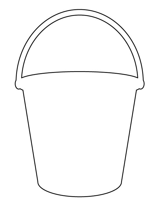 Sand Bucket Template Bucket Pattern Use the Printable Outline for Crafts