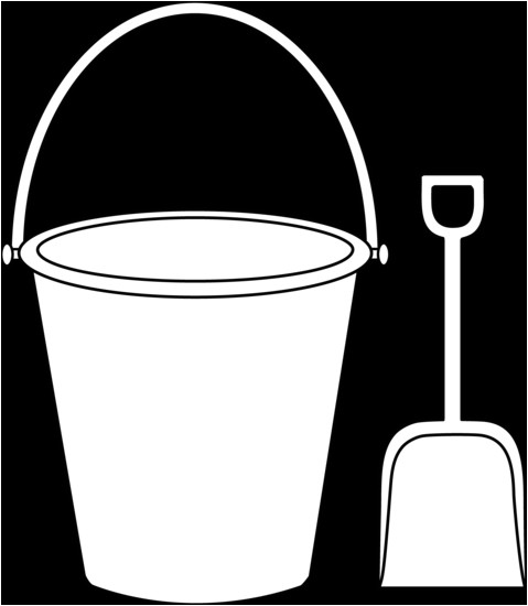 Sand Bucket Template Pattern Of A Sand Bucket and Shovel Kids Colorable Pail
