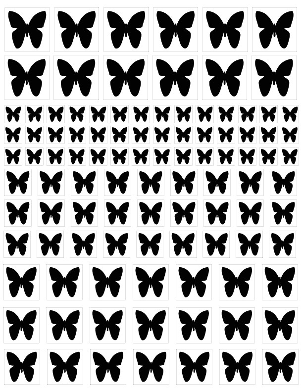 butterfly blasting stencils p 97270